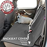 Majestic Pet Grey Universal Waterproof Back Seat Cover for Pets