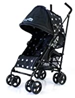 Baby Travel Zeta Vooom - Black Dots Stroller Buggy Pushchair From Birth by BABY TRAVEL