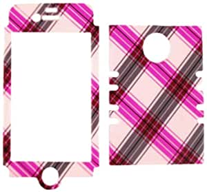 Cell Armor IPHONE4G-RSNAP-TE273 Rocker Snap-On Case for iPhone 4/4S - Retail Packaging - Pink and Brown Plaid