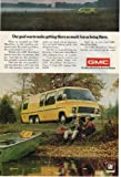 1974 GMC Motorhome Vintage Retro Magazine Advertising Vintage Ads
