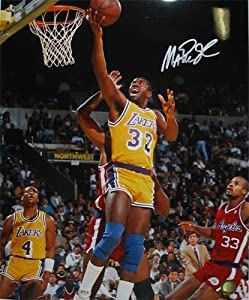 Magic Johnson Autographed Hand Signed Los Angeles Lakers 16x20 Photo (Layup vs... by Hall of Fame Memorabilia