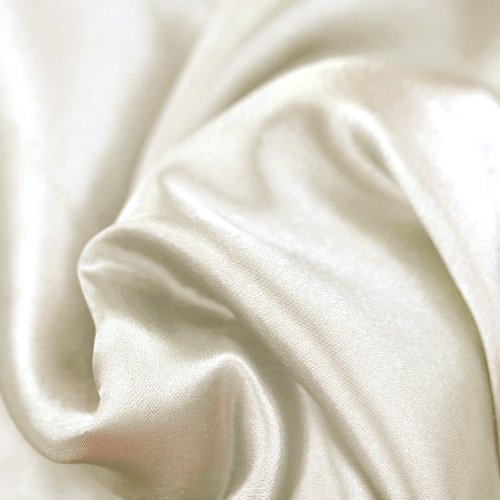 MALOUF FINE LINENS® Satin Silky Soft Deep Pocket Sheets 3-Piece Bed Sheet Set - Ivory, Twin