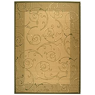Safavieh CY2665-1E01 Courtyard Collection Indoor/Outdoor Area Rug, 8-Feet by 11-Feet, Natural/Olive