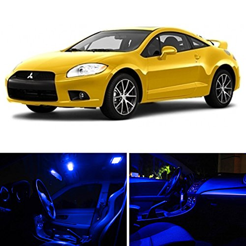 Ledpartsnow Mitsubishi Eclipse 2006-2011 Blue Premium Led Interior Lights Package Kit (4 Pieces)