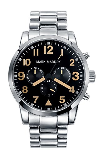 Mark Maddox-Orologio da uomo al quarzo con Display analogico e braccialetto in argento, HM 3004-54
