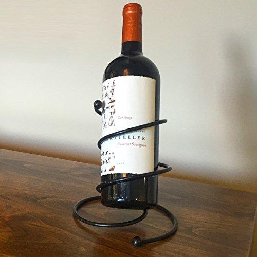 Milano Metal Single Bottle Countertop Wine Holder Free Standing Rack