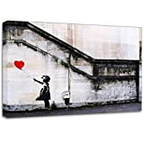 Banksy Balloon Girl 3 Wall Graffiti Canvas Art Print Posterby WhatsOnYourWall