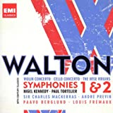 echange, troc  - Walton : Symphonies n° 1 et n° 2 - Concerto pour violon - Concerto pour violoncelle - The Wise Virgins