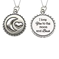 "Children's Sterling Silver ""I Love You to the Moon and Back"" Necklace"