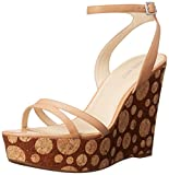 Nine West Womens Anadulo Leather Wedge Sandal