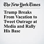 Trump Breaks From Vacation to Tweet Outrage at Media and Rally His Base   Peter Baker