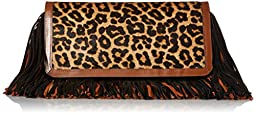 Sam Edelman Fifi Clutch, Brown/Chestnut/Black, One Size