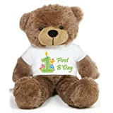 Brown 2 feet Big Teddy Bear wearing a First Happy Birthday T-shirt - B00KUDZAVQ
