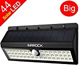 InaRock® Large Size 44 LED Outdoor Wireless Solar Energy Powered Motion Sensor Light Step Lighting with Three Intelligent Modes - Waterproof - New Upgrade Version Wireless Exterior Security Lighting