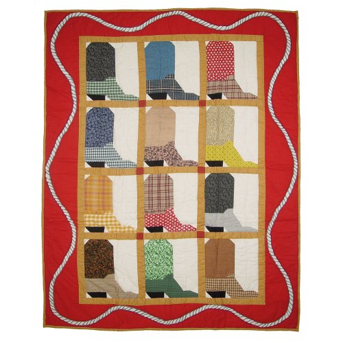 Patch Magic Boots Crib Quilt, 36-Inch by 46-Inch