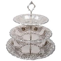 Tin Craft Metal Cake Stand (DIA 31, 25.7, 20.7 cms)