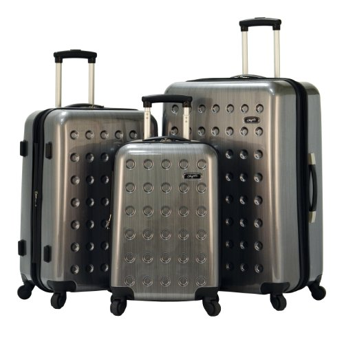 Olympia Luggage Castle 3 Piece Spinner Set, Grey, One Size reviews