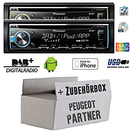 Peugeot partner-pioneer dEH-x6800DAB cD/mP3-dAB/dAB uSB avec antenne de montage