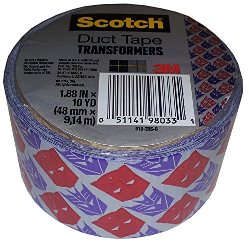 3M Scotch Transformers Duct Tape, 1.88 In. X 10 Yds. Single Roll