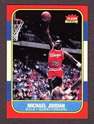 Michael Jordan 1986 Fleer Basketball Rookie Reprint Card (Chicago)