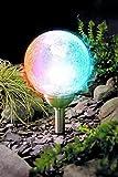 XXL Kugelleuchte Solar 12 cm Durchmesser massives Glas in Kristall