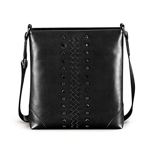 teemzone-ladies-mens-leather-cross-body-bag-shoulder-bag-rivets-full-grain-leather-black