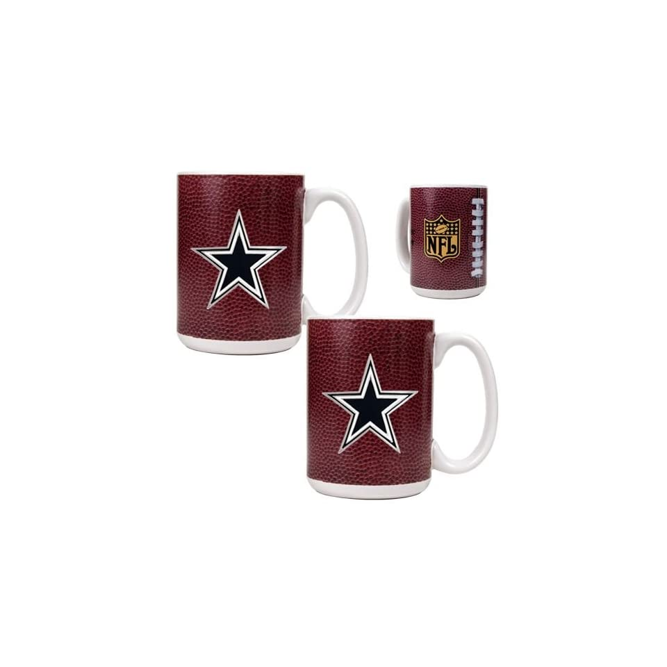 Dallas Cowboys NFL 2pc Gameball Ceramic Mug Set   Primary logo
