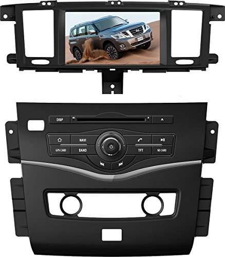 8 Inch Touch Screen Car GPS Navigation for NISSAN PATROL 2010-2016 Stereo DVD Player Video Radio Audio Bluetooth Steering Wheel Control AUX IN+Free Rear View Camera+Free GPS Map of USA (Nissan Patrol 2014 compare prices)