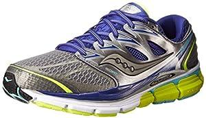 Saucony Women's Hurricane ISO-Series Running Shoe,Grey/Twilight/Citron,8 M US