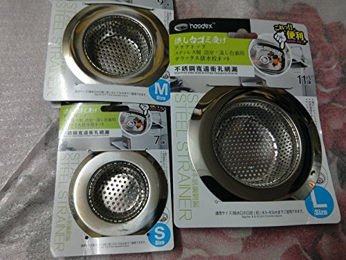 Haodex 6957013790036 3 Pcs Stainless Steel Sink Strainer