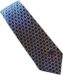 Versace Made In Italy Purple Black Patterned 100% Silk Men's Tie