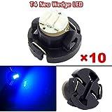 Partsam 10x Blue T4 Neo Wedge Instrument Gauges Dashboard Led Light Bulbs Lamp