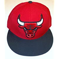Chicago Bulls Fitted Flat Bill Hat by Adidas - Size 7 5/8 - TR02M