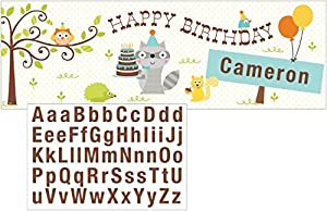 Happi Woodland Boy Giant Banner Add a Name Party Supplies by Creative Converting