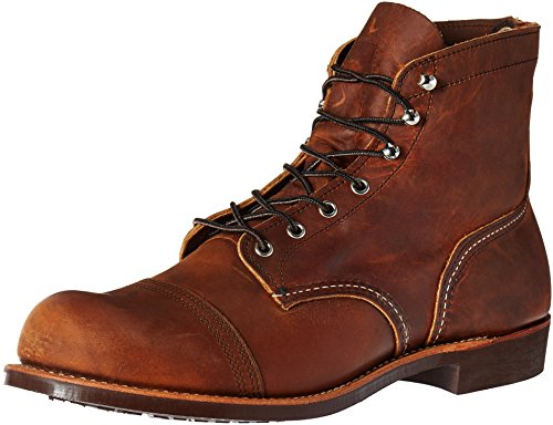 Red Wing Heritage Men's Iron Ranger Work Boot, Copper Rough and Tough, 9 D US (Red Wings Shoes compare prices)
