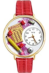 Bunco Royal Red Leather And Goldtone Watch #WG-G0430010