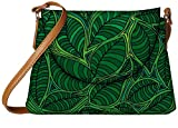Snoogg abstract sketch of leaf background vector illustration Womens Carry Around Sling Bags