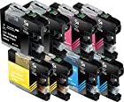 Sherman Ink Cartridges © 8 Pack Compatible Ink for MFC-J870DW, MFC-J450DW Replacement Ink Cartridge LC103 LC-103 2 Black, 2 Cyan, 2 Yellow, 2 Magenta Compatible with Printers MFCJ870DW, MFC-J450DW, MFC-J6920DW, MFC-J650DW, MFC-J4410DW