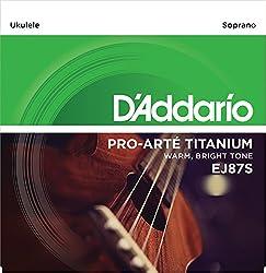 D'Addario EJ87S Titanium Ukulele Strings, Soprano