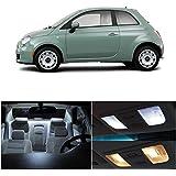 LEDpartsNow Fiat 500 2012 & Up Xenon White Premium LED Interior Lights Package Kit (3 Pieces)
