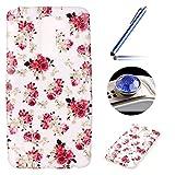 Etsue für LG Stylus 2 LS775 Rot Rose Blumen Flower