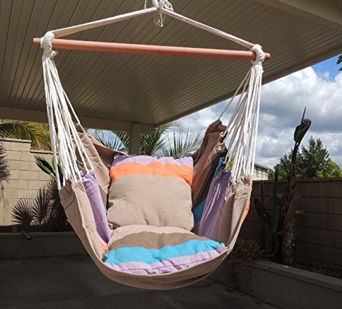 Busen Sky Air Hammock Swing Chair Porch Chair with Stand Cushioned Seat