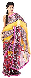 Mili Women's Chiffon Saree - (Multi-Coloured, MS-27)