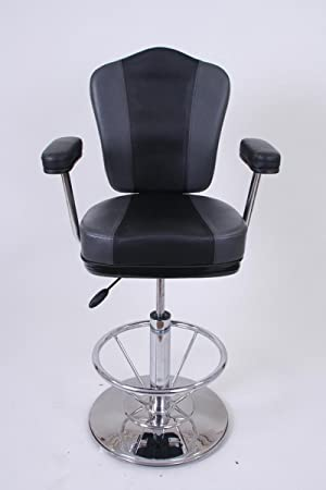 Barstool black/grey Faux leather Premium