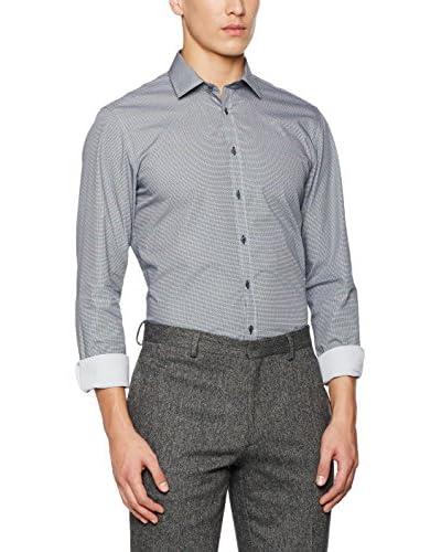 Seidensticker Camisa Vestir Super Slim Gris