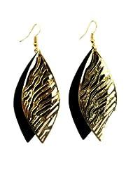 Eden Overseas Golden Black Metal Earring For Women