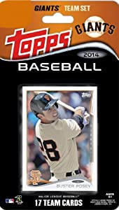 2014 Topps San Francisco Giants Factory Sealed Special Edition 17 Card Team Set with Buster Posey, Tim Lincecum Plus