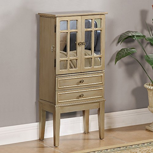 Coast to Coast Cadia Metallic Gold Jewelry Armoire with 2 Drawers and 2 Doors (Wolfgang Puck Chef Knife compare prices)