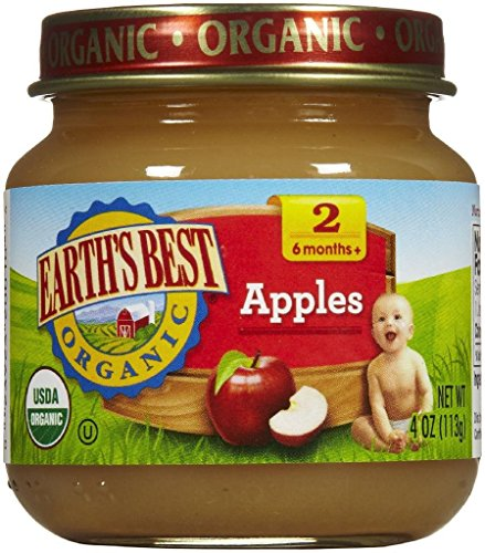 Earth's Best 2nd Foods Fruits - Apples - 4 oz - 12 pk
