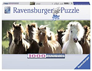 Wildpferde - 1000 Teile Panorama Puzzle von Ravensburger